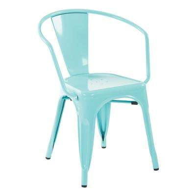 Patterson Green Metal Chair (2-Pack)