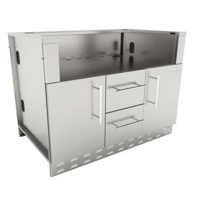 Designer Series 304 Stainless Steel 46 in. x 34.5 in. x 28.25 in. Drop in Gas Grill Base Cabinet