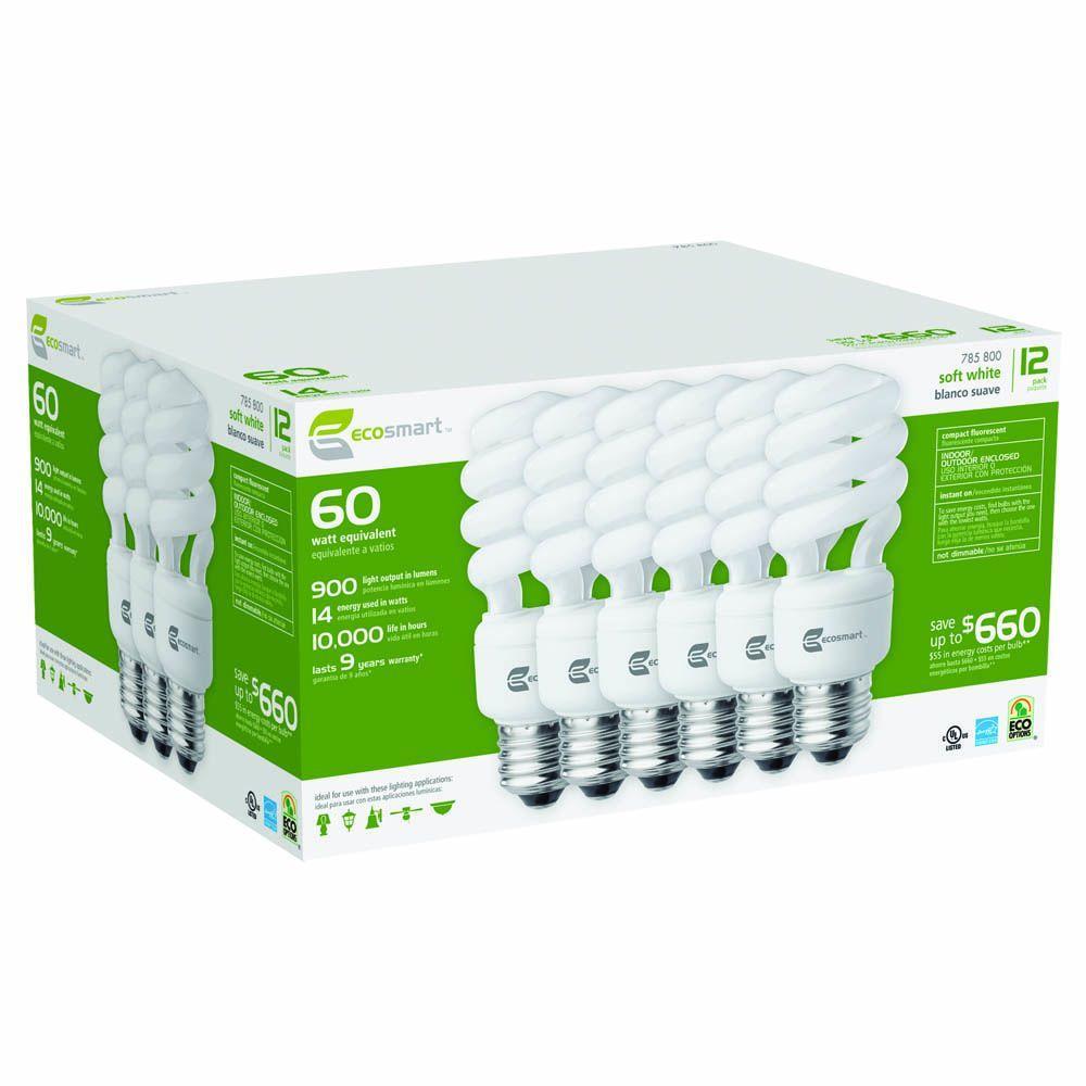 60W Soft White Twister CFL Pallet-Pack