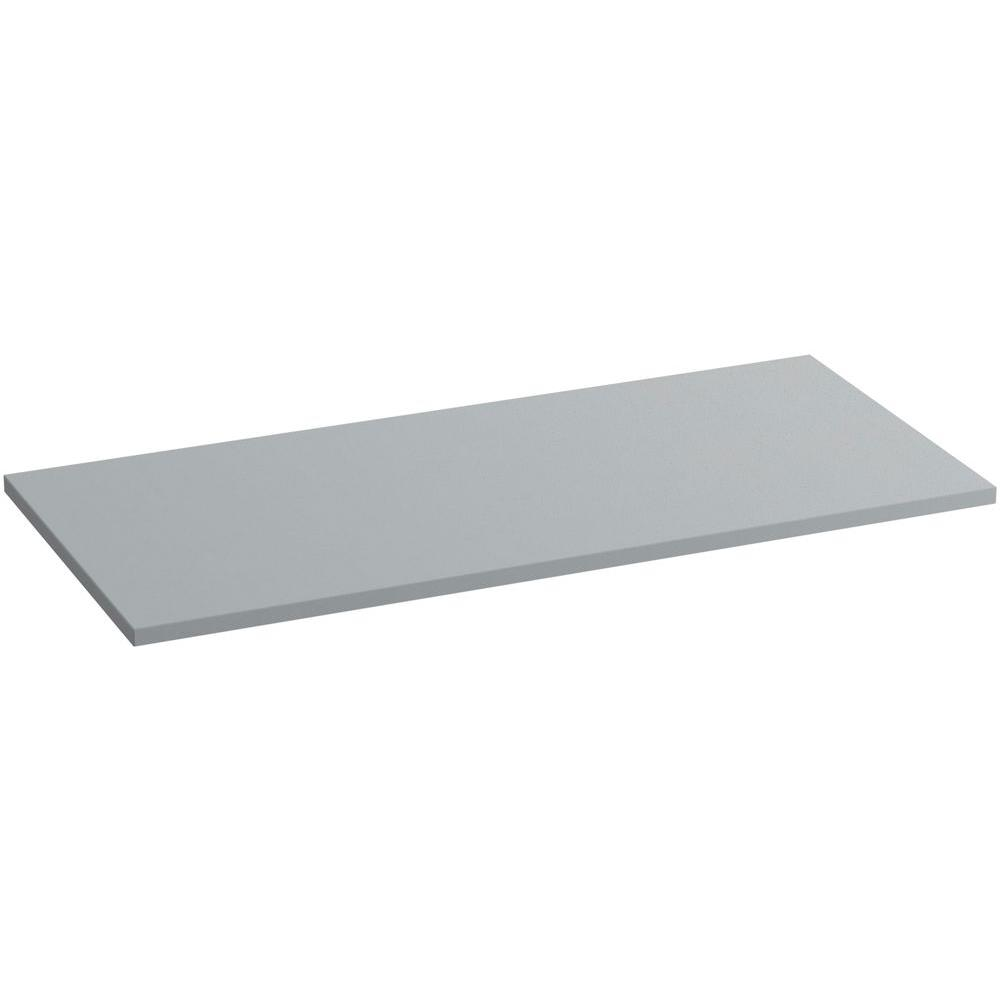 KOHLER Solid/Expressions 49 in. Solid Surface Vanity Top in Ice Grey Expressions without Basin
