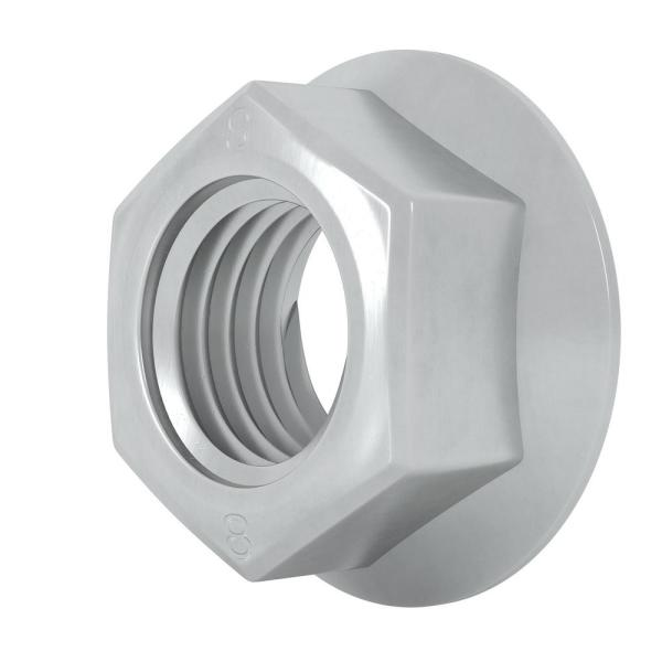 Stainless Steel 18-8 Quantiy 50 M6-1.0 Metric Serrated Flange Nuts