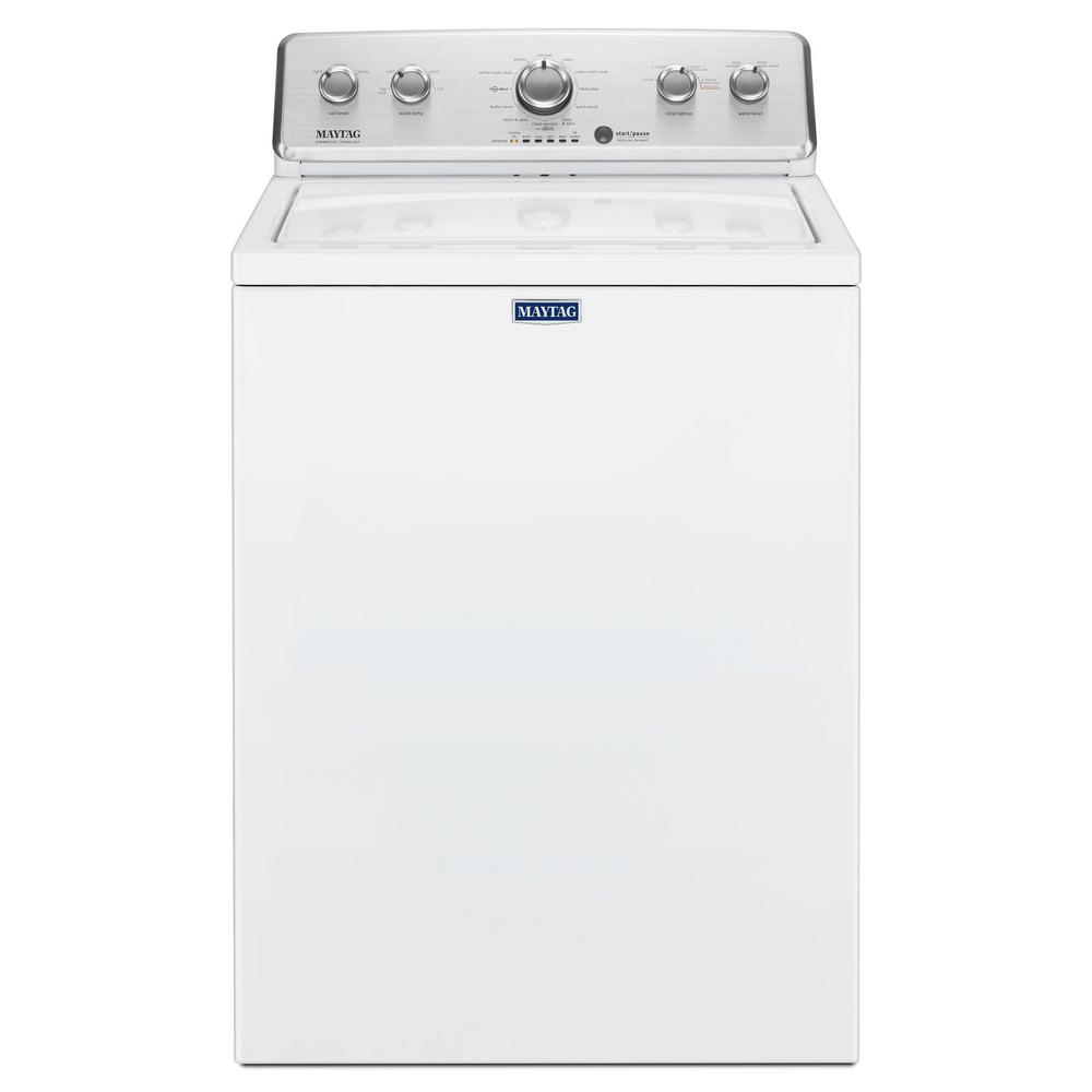 3.8 cu. ft. High-Efficiency White Top Load Washing Machine with Deep