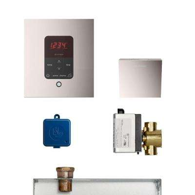 MS Butler Package with iTempo Pro Square Programmable Control for Steam Bath Generator in Polished Nickel
