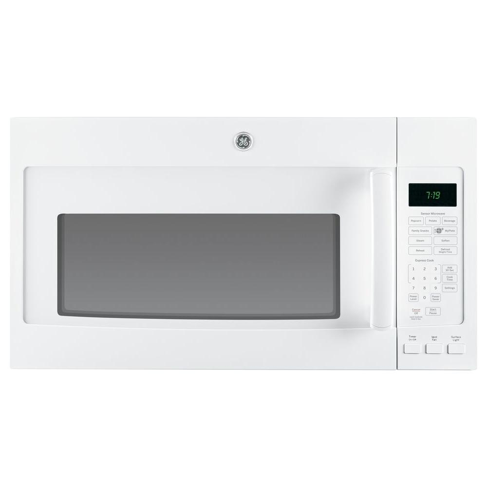 GE 1.9 cu. ft. Over the Range Microwave in White with Sensor Cooking