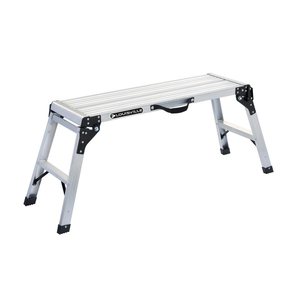 3 ft. Aluminum Mini Working Platform with 225 lbs. Load Capacity