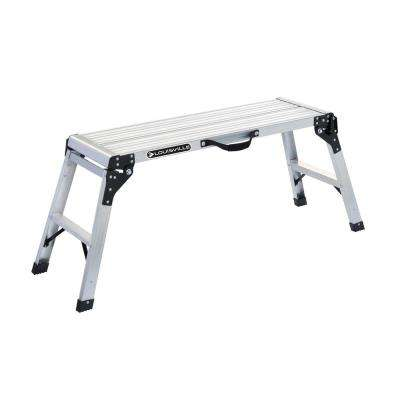 3 ft. Aluminum Mini Working Platform with 225 lbs. Load Capacity Type II Duty Rating