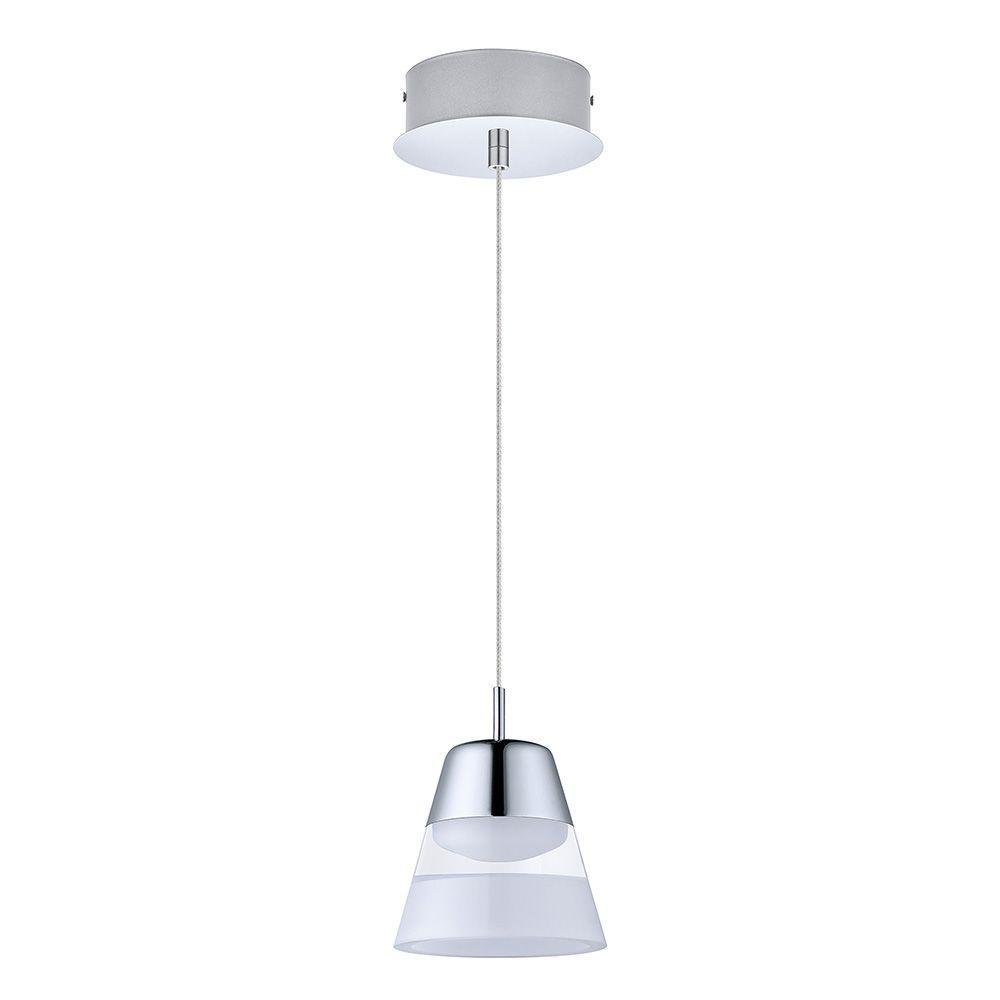 EGLO Pancento 40-Watt Chrome Integrated LED Pendant-94479A