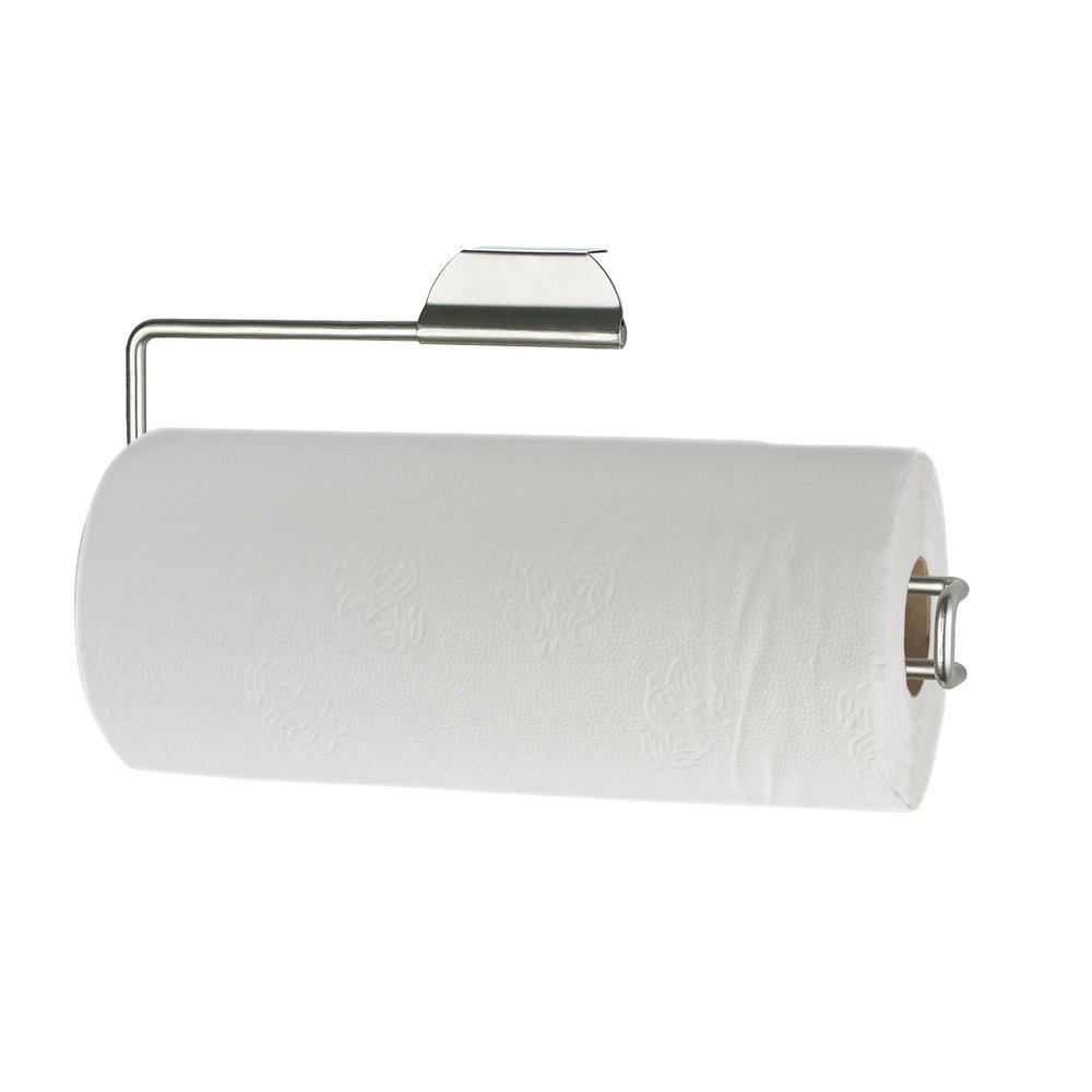 Home Basics Over The Door Satin Nickel Paper Towel Holder