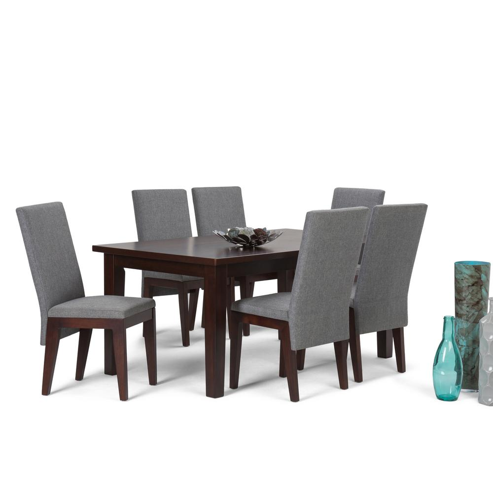 Simpli Home Jennings 7 Piece Grey Dining Set
