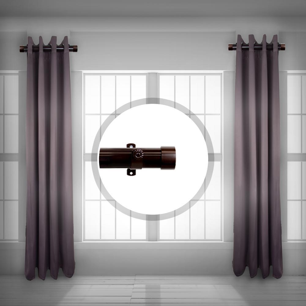 Rod Desyne 1.5 Inch Side Single Curtain Rod Adjustable 12