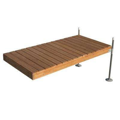 8 ft. Straight Cedar Complete Dock Package