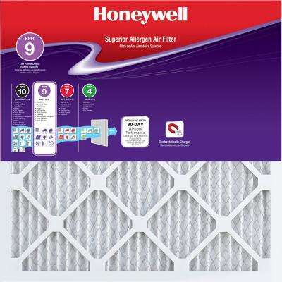 16 in. x 24 in. x 1 in. Superior Allergen Pleated FPR 9 Air Filter (12-Pack)