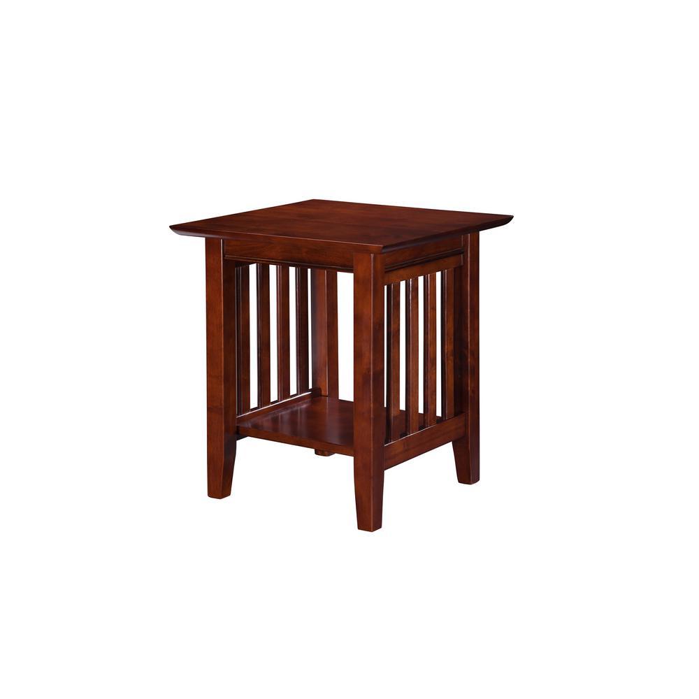 Atlantic Furniture Mission Walnut End Table