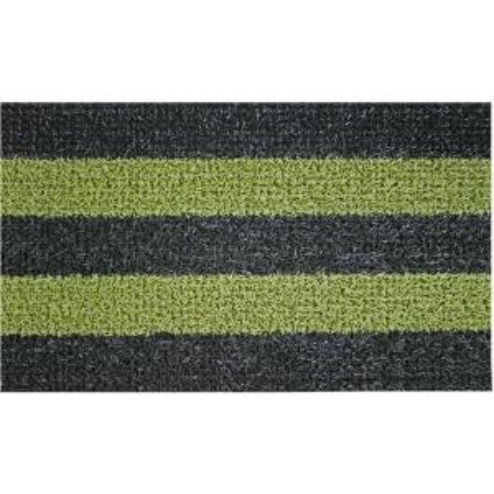 Clean Machine Patio Stripe Black Olive 18 inch x 30 inch Door Mat by Clean Machine