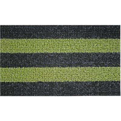 Patio Stripe Black Olive 18 in. x 30 in. Door Mat