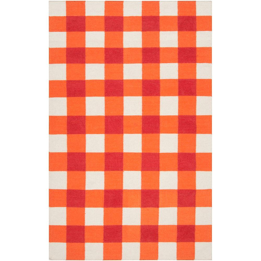 Country Living Orange-Red 5 ft. x 8 ft. Flatweave Area Rug