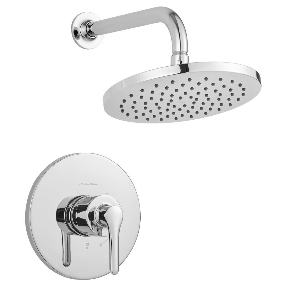 American Standard Studio S 1-Handle Water Saving Shower Faucet Trim Kit for Flash Rough-in Valves in Polished Chrome (Valve Not Included)