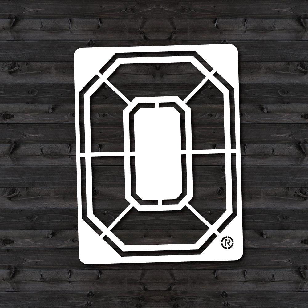 """U Stencil Ohio State """"O"""" Mini Stencil-OHOOS-202"""