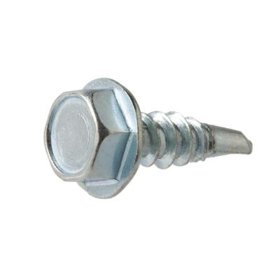 #14 x 1-1/4 in. Hex Head Zinc Plated Sheet Metal Screw (25-Pack)