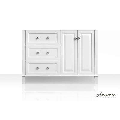 Hannah 47 in. W x 21 in. D Vanity Only Cabinet in White