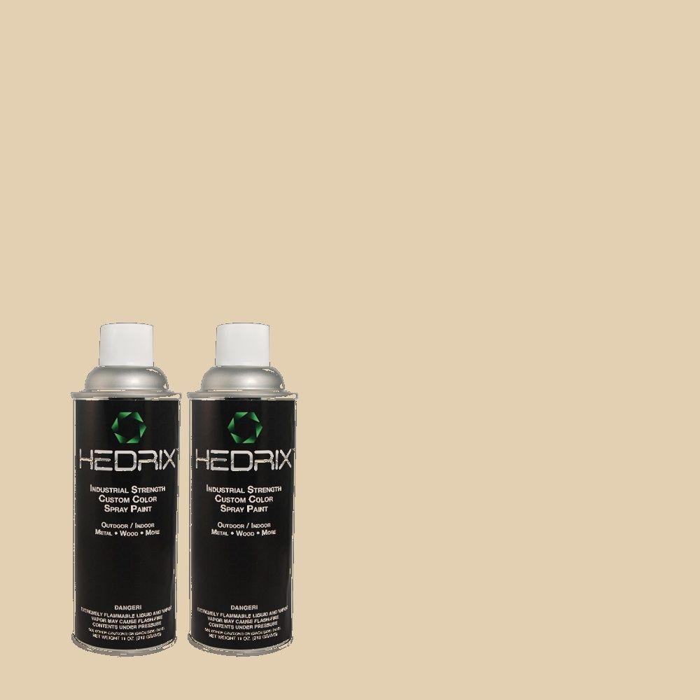 Hedrix 11 oz. Match of 3B9-2 Shadow Beige Gloss Custom Spray Paint (2-Pack)