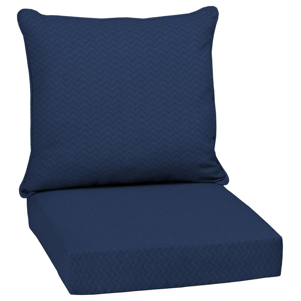 Arden Selections DriWeave Sapphire Leala Outdoor Deep Seat Lounge Chair Cushion Set