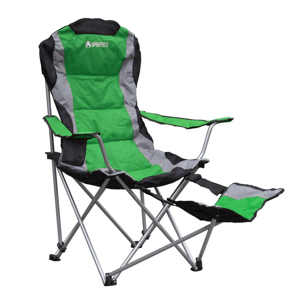 Miraculous Gigatent Gigatent Ergonomic Portable Footrest Camping Chair Green Ocoug Best Dining Table And Chair Ideas Images Ocougorg