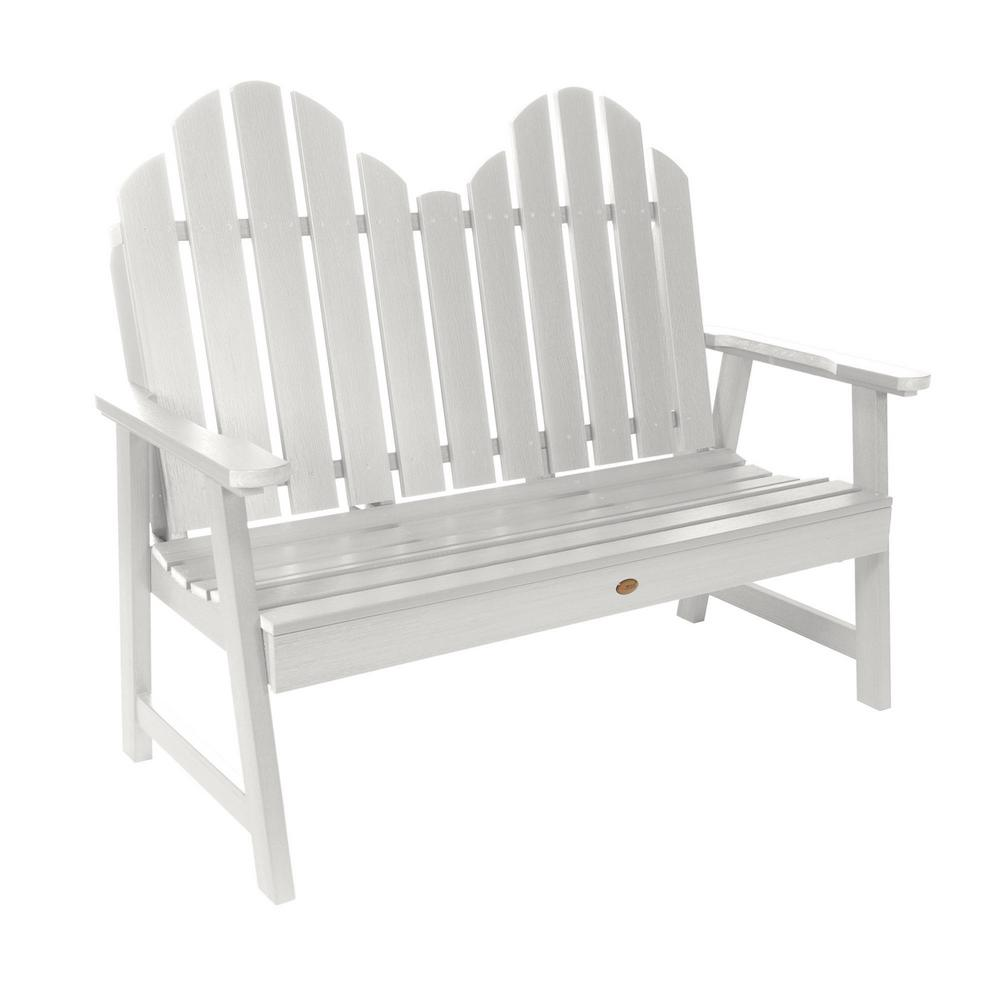 Marvelous Classic Westport 48 In 2 Person White Recycled Plastic Outdoor Garden Bench Ncnpc Chair Design For Home Ncnpcorg