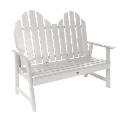 Classic Westport 48 in. 2-person White Recycled Plastic Outdoor Garden Bench