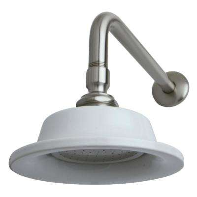 Sunflower 1-Spray 6.3 in. Showerhead with Shower Arm in Brushed Nickel