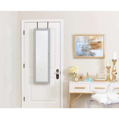 Mirrored Jewelry Armoire - Gray