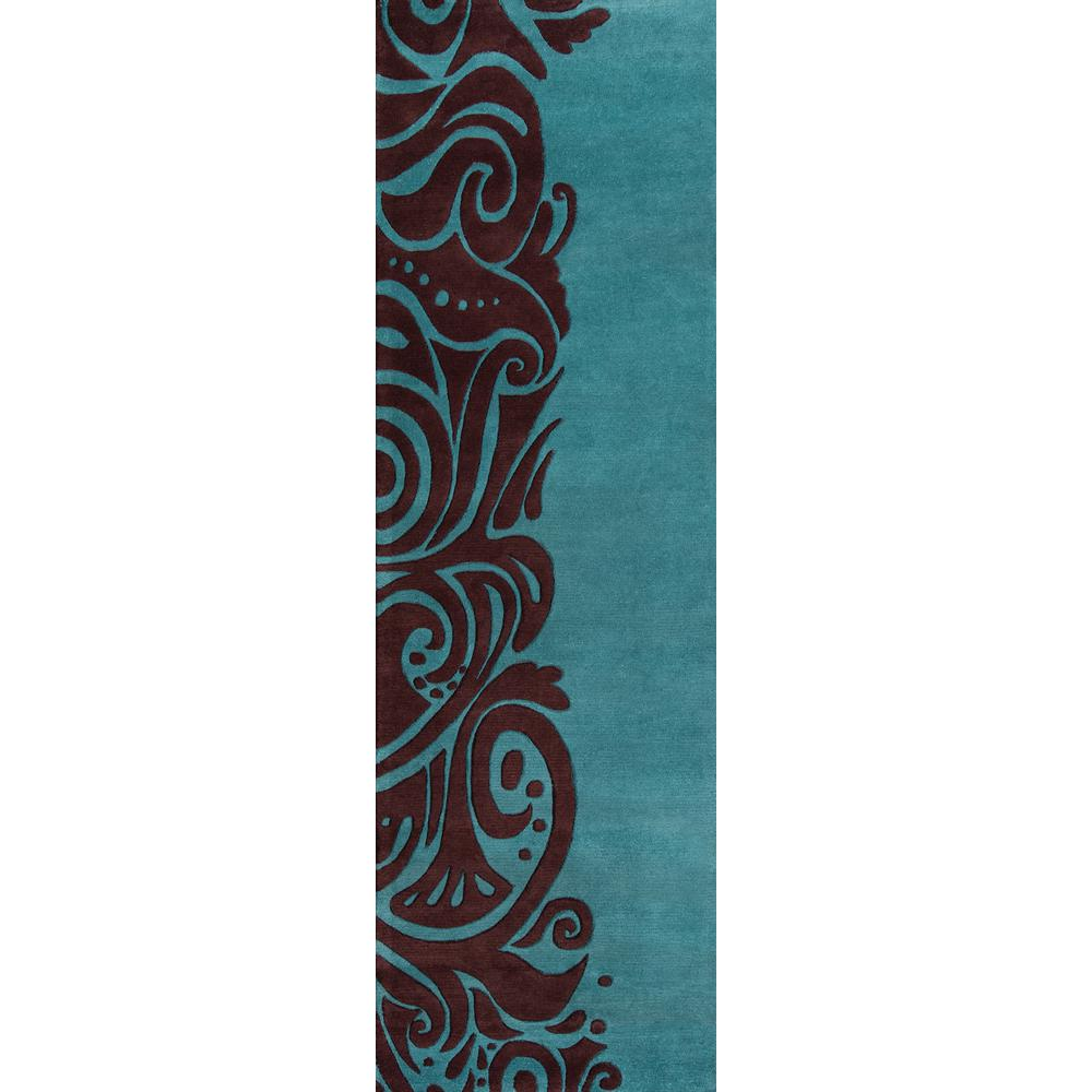 Momeni Contempo Turquoise 3 ft. x 8 ft. Indoor Runner Rug