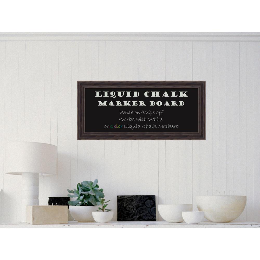 Amanti Art Rustic Pine Narrow Wood 15.38 inch H x 33.38 inch W Framed Liquid... by Amanti Art