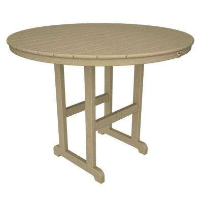 Monterey Bay 48 in. Sand Castle Round Patio Counter Table