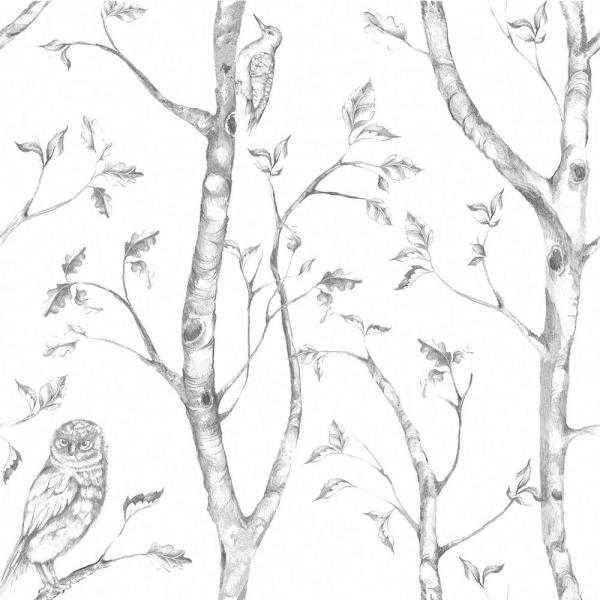 Grey Woods Vinyl Strippable Wallpaper (Covers 30.75 sq. ft.)