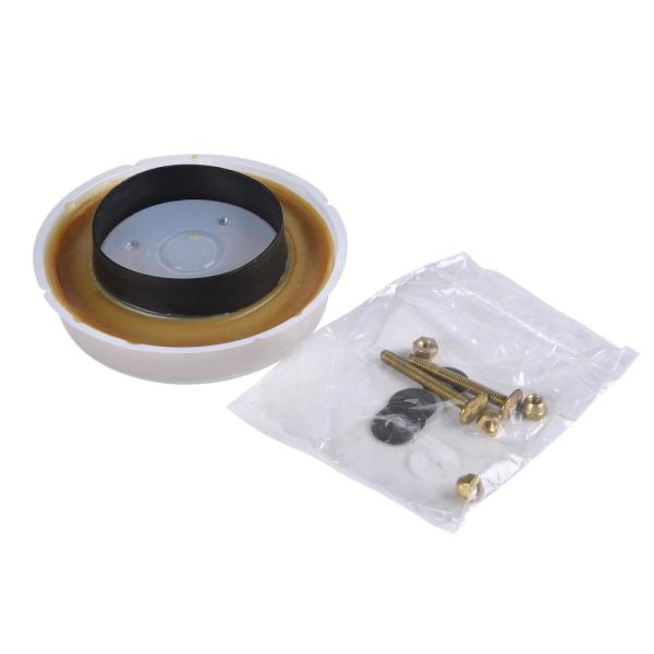 Johni-Ring 4 in. Standard Toilet Wax Ring with Plastic Horn and Brass Toilet Bolts