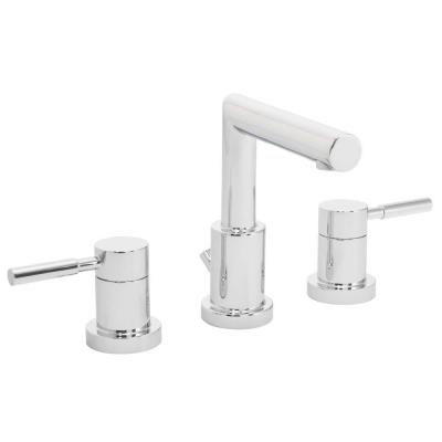 Neo 8 in. Widespread 2-Handle Bathroom Faucet with Drain Assembly in Polished Chrome