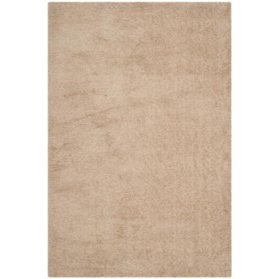 Venice Shag Champagne 6 ft. x 9 ft. Area Rug