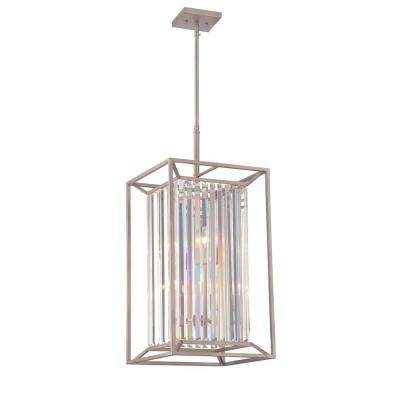 Linares 4-Light Aged Platinum Interior Incandescent Hall and Foyer