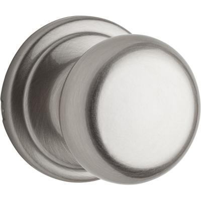 Hancock Satin Nickel Passage Hall/Closet Door Knob Featuring Microban Antimicrobial Technology