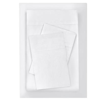 Brushed Soft Microfiber 4-Piece Queen Sheet Set in White