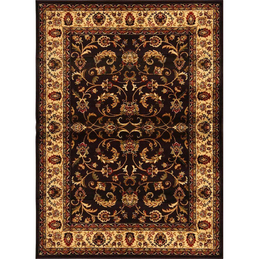 Home Dynamix Royalty Brown Ivory 8 Ft X 10 Indoor Area Rug