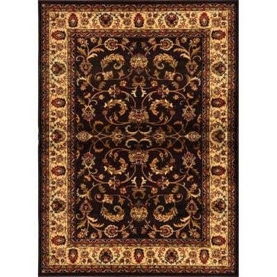 Royalty Brown/Ivory 8 ft. x 10 ft. Indoor Area Rug
