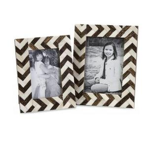 Home Decorators Collection Chevron 1-Opening Multiple Sizes Brown/White Matted Picture... by Home Decorators Collection
