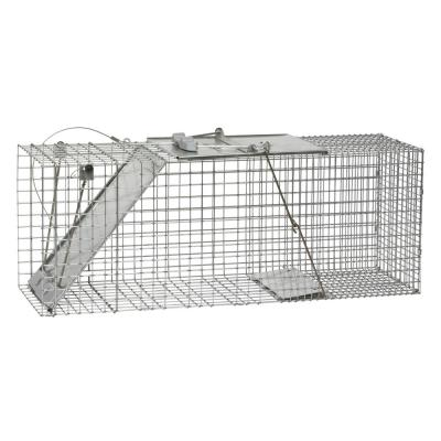 Large 1-Door Easy Set Live Animal Cage Trap for Racoon, Opossum, Muskrat, and Groundhog