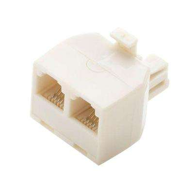 2-Way Telephone Splitter - Light Almond