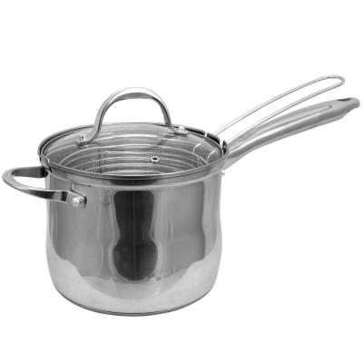 Brenta 3.6 Qt. Sauce Pan with Steamer Insert and Lid