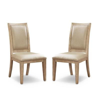 Edgewater Natural Tone and Beige Side Chairs (Set of 2)