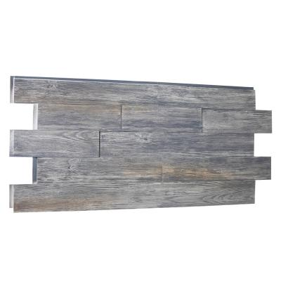 Raised Grain Faux Transitional Panel 1-1/4 in. x 48 in. x 23 in. Weathered Barn Polyurethane Interlocking Panel