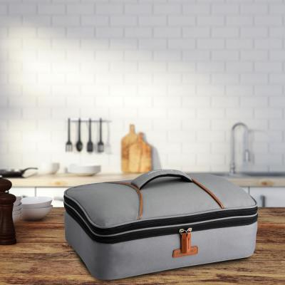Gray Casserole Lunch Bag Plus 120 Volt